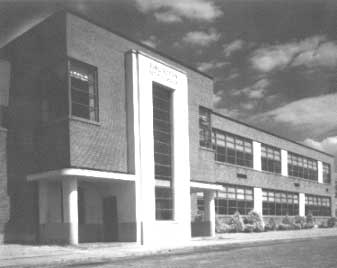 Older image of Burlington's first high school building which currently houses the Board of Health